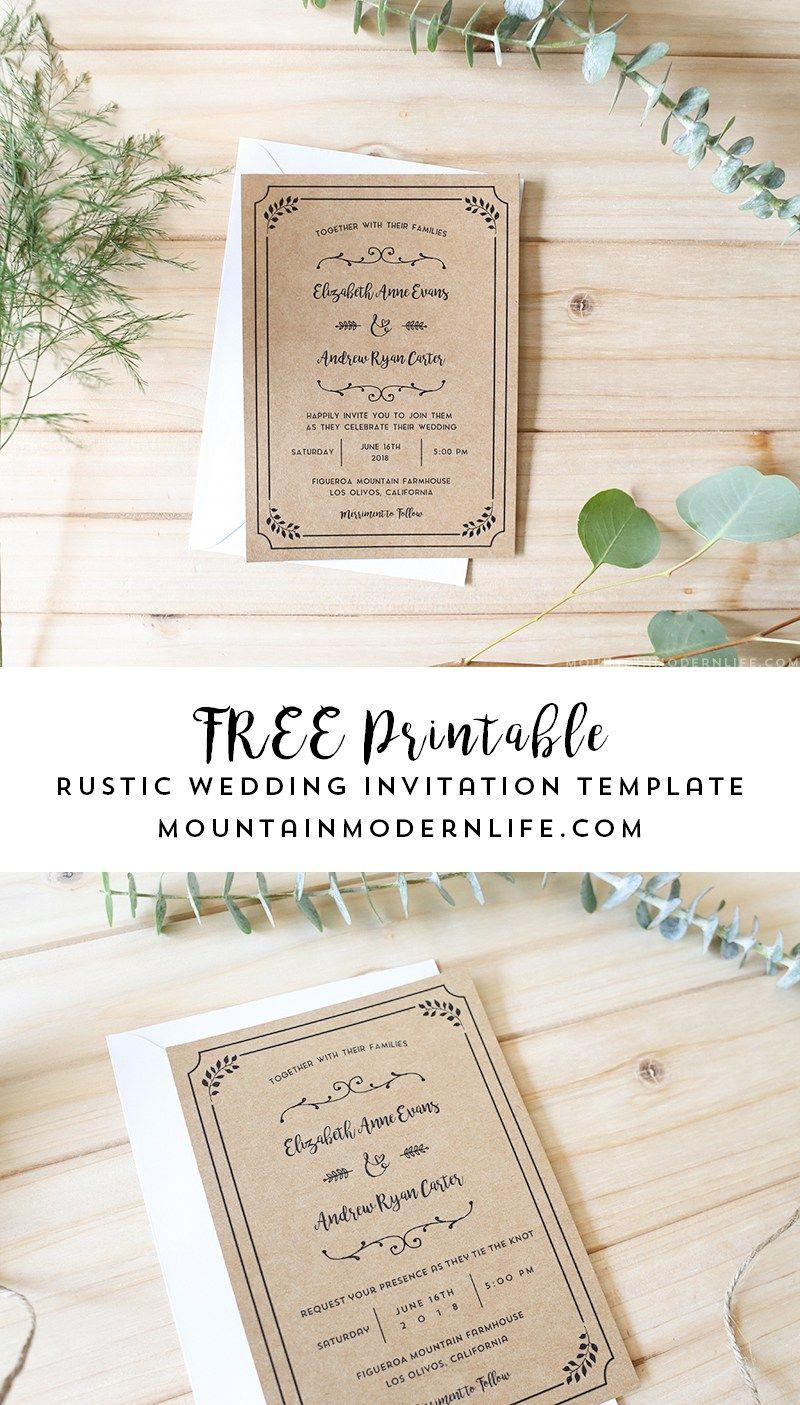 Free Printable Wedding Invitation Template | | Freebies - Free Printable Wedding Invitations Templates Downloads