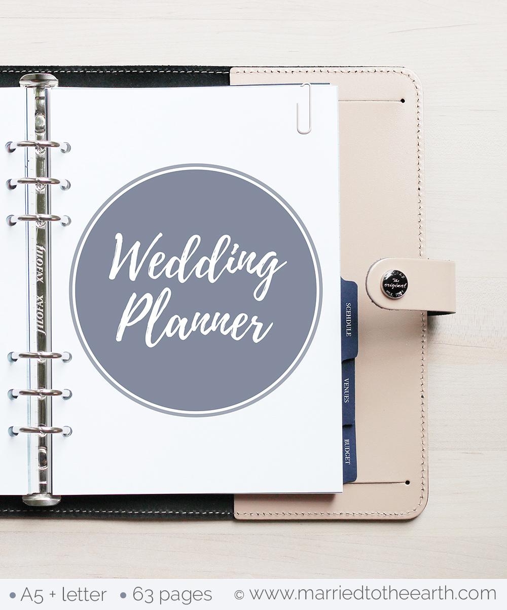 Free Printable Wedding Planner - A5 & Letter - Free Printable Wedding Binder Templates