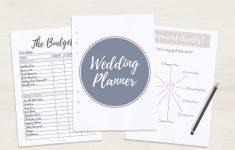 Free Printable Wedding Planner – A5 & Letter – Free Printable Wedding Binder Templates