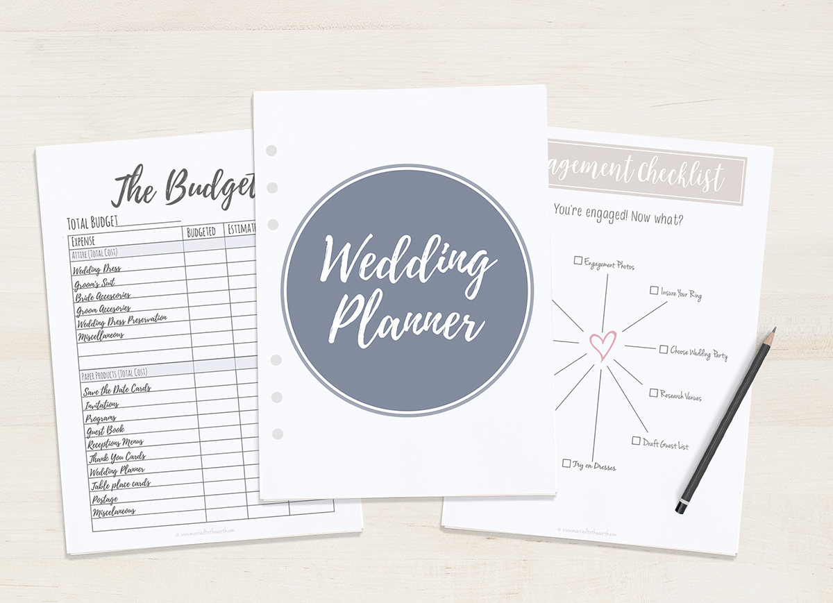 Free Printable Wedding Planner - A5 & Letter - Free Printable Wedding Planner Book