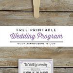 Free Printable Wedding Program | Mountainmodernlife   Free Printable Wedding Programs