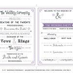 Free Printable Wedding Program Templates Best Template Examples With   Free Printable Wedding Programs