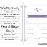 Free Printable Wedding Program Templates | Bestprintable231118   Free Printable Wedding Programs