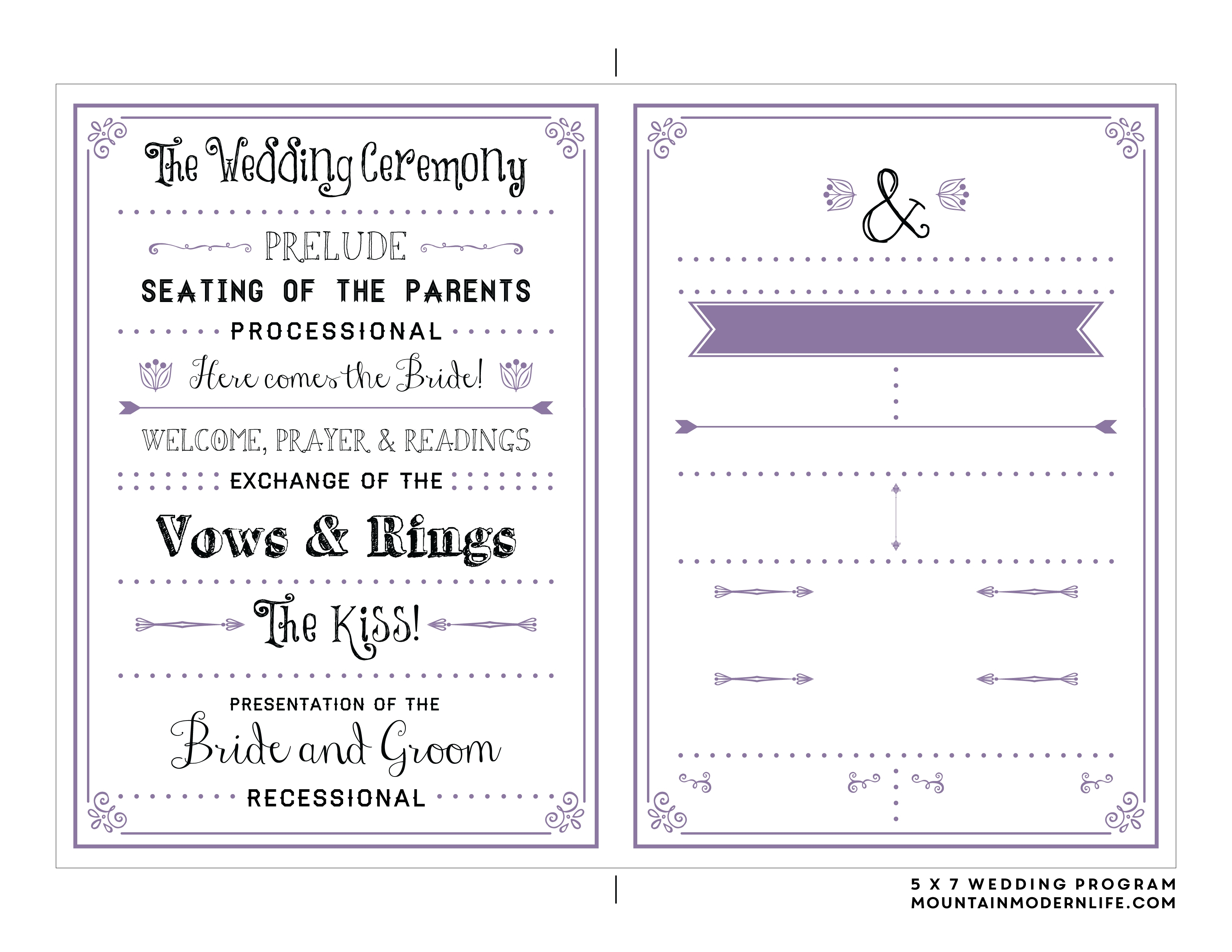 Free Printable Wedding Program Templates | Bestprintable231118 - Free Printable Wedding Programs