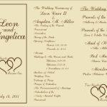 Free Printable Wedding Programs Templates | : Sample Wedding   Free Printable Wedding Programs
