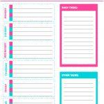 Free Printable Weekly Cleaning Checklist   Sarah Titus   Free Printable Cleaning Schedule