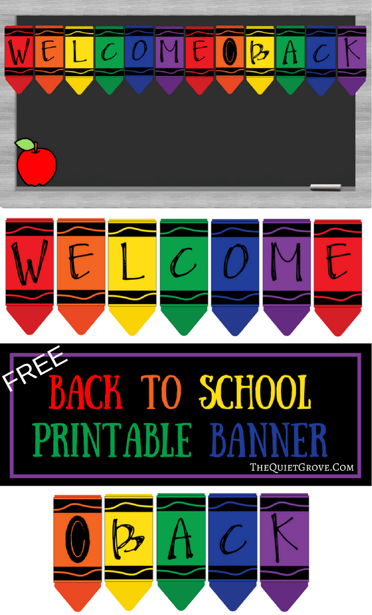 Free Printable Welcome Back To School Banner | The Best From - Free Printable Welcome Back Signs For Work