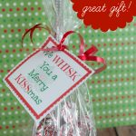 "Free Printable Whisk Label ""We Whisk You A Merry Kissmas"" (Cute Gift   We Wash You A Merry Christmas Free Printable"