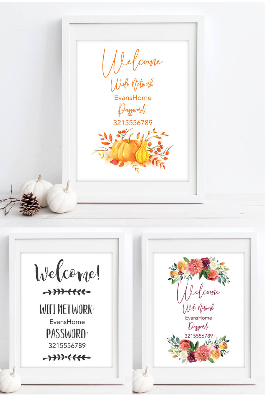 Free Printable Wifi Password Signs For Thanksgiving - Chicfetti - Free Printable Closed Thanksgiving Day Signs