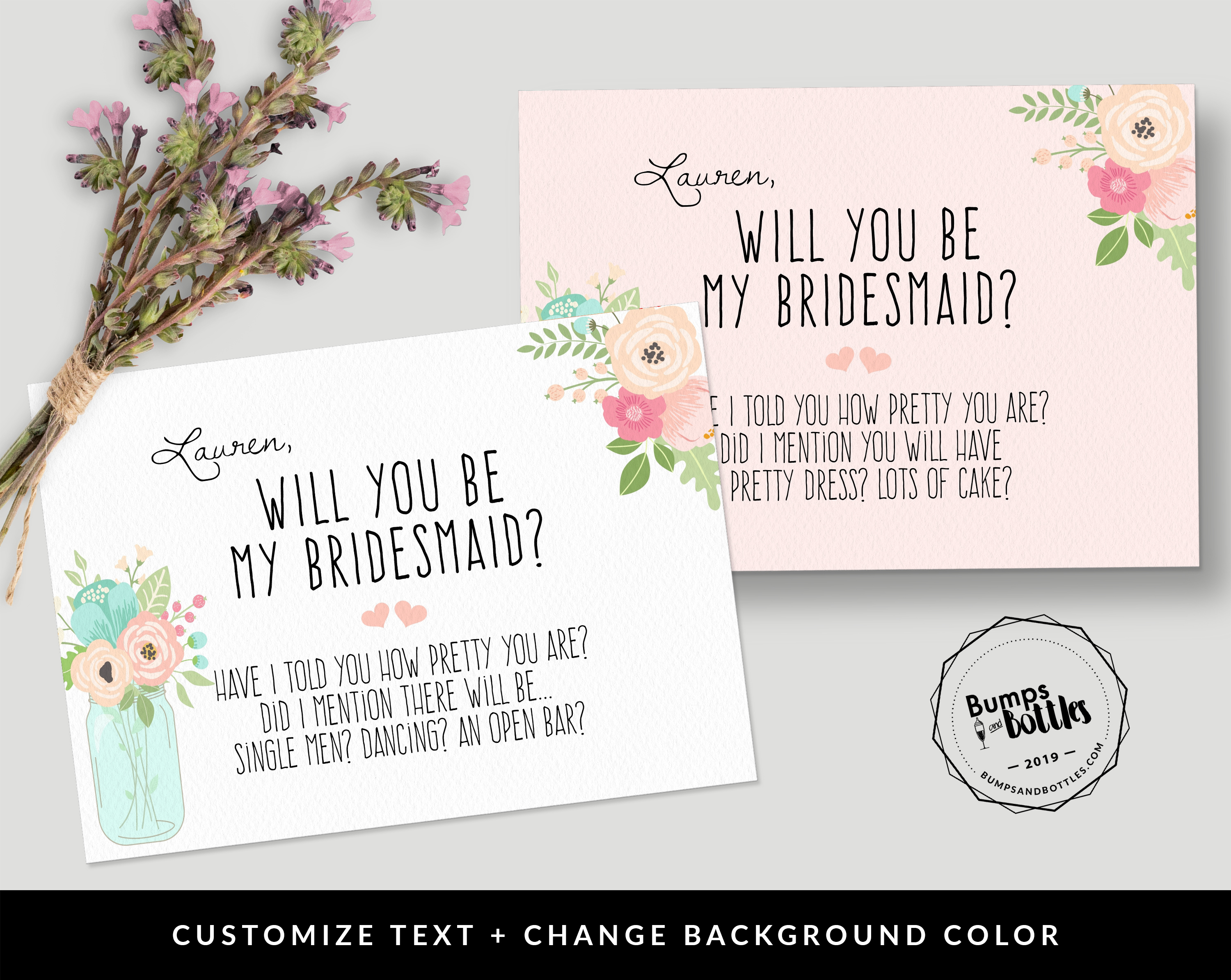 Free Printable: Will You Be My Bridesmaid? - Free Printable Will You Be My Bridesmaid Cards