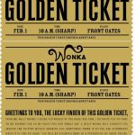 Free Printable Willy Wonka's Golden Ticket–Need To Have A Scrbd – Free Printable Wonka Bar Wrapper Template