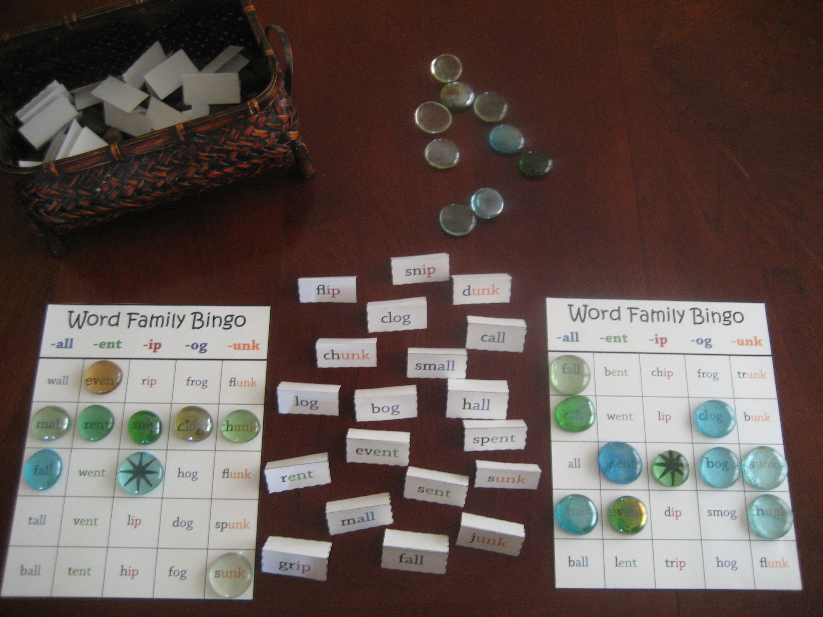 Free Printable Word Family Bingo Game - Free Printable Word Family Games