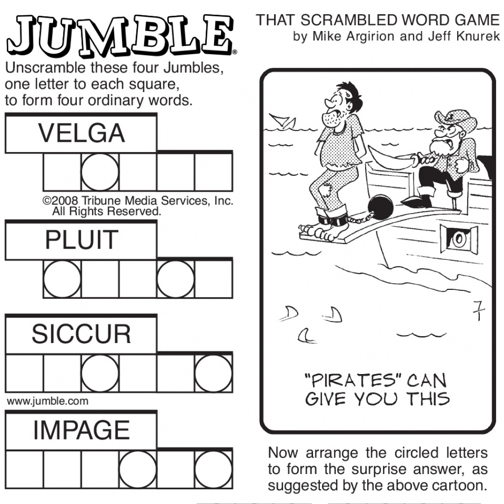 image about Printable Jumble Puzzles identified as Absolutely free Printable Jumble Term Game titles Cost-free Printable Down load
