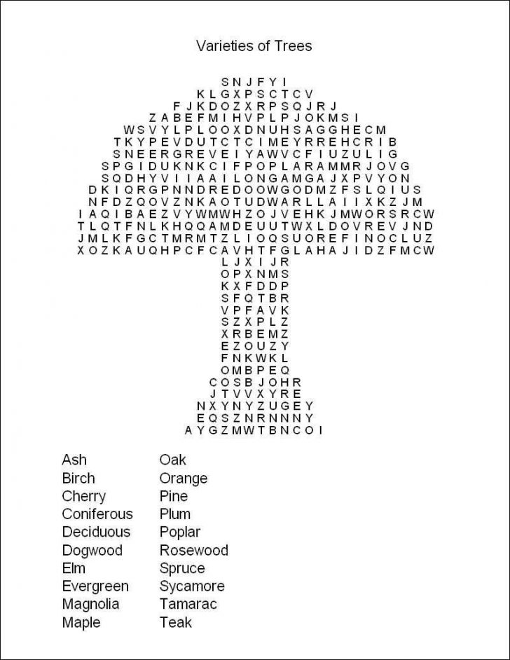 Free Printable Word Search Puzzles