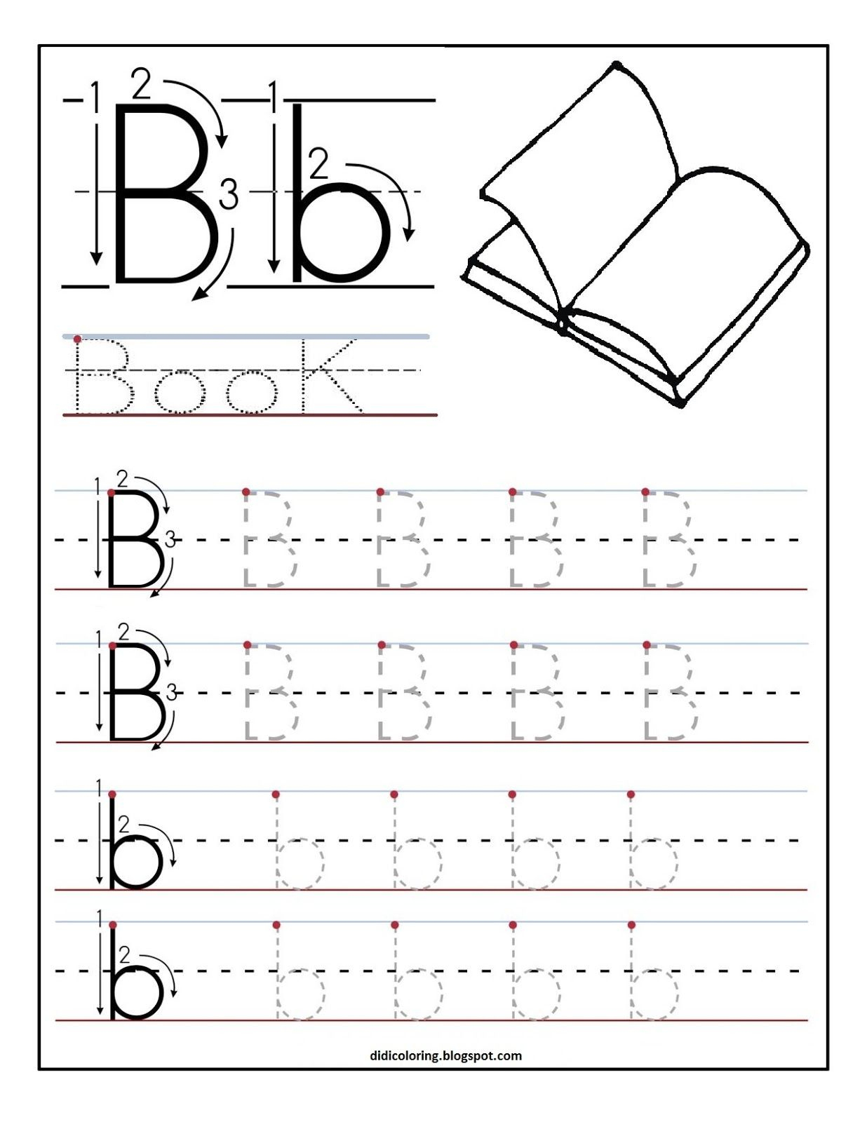 Free Printable Worksheet Letter B For Your Child To Learn And Write - Free Printable Letter Worksheets