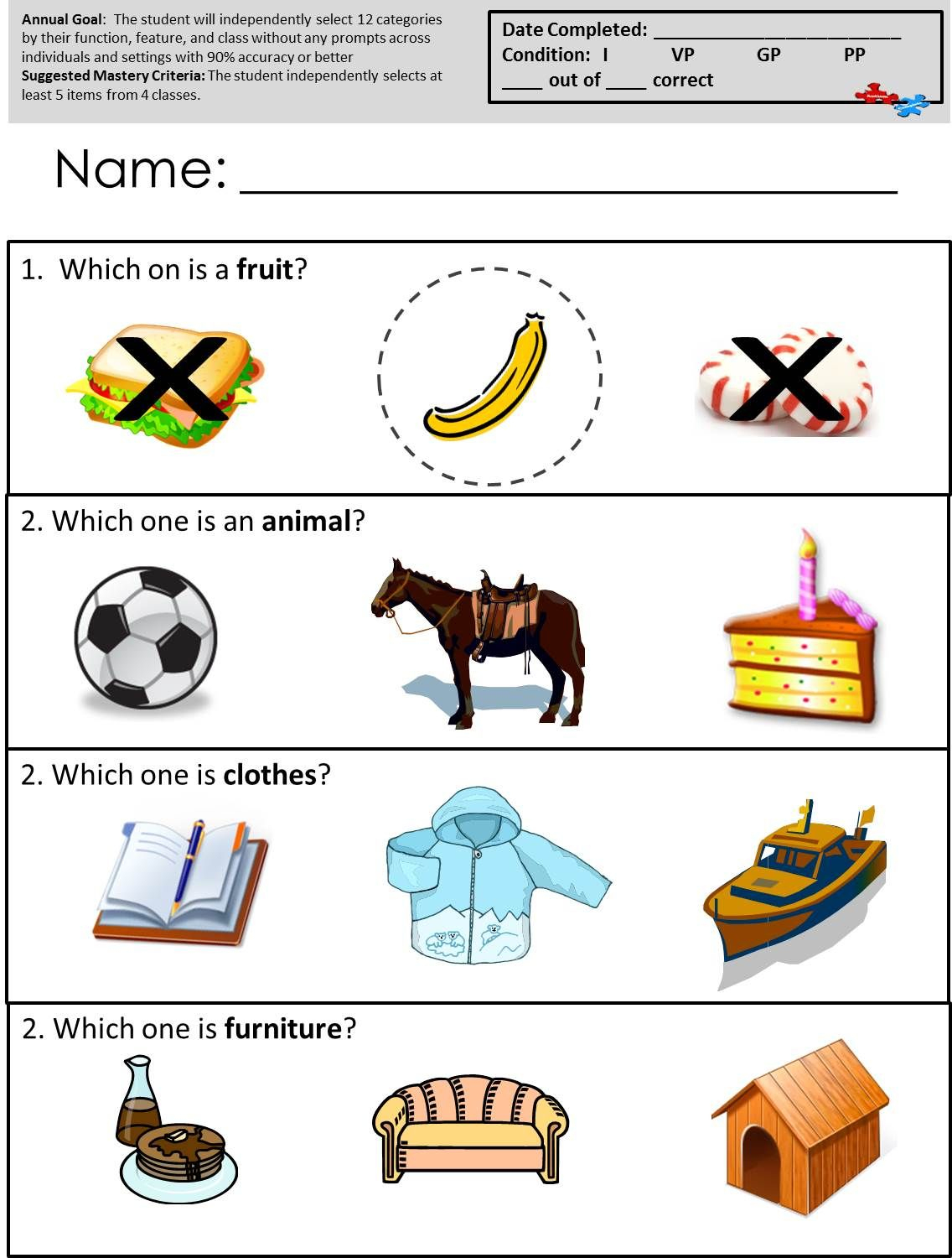 Free Printable Worksheets For Autism Classrooms! Available At - Free Printable Autism Worksheets