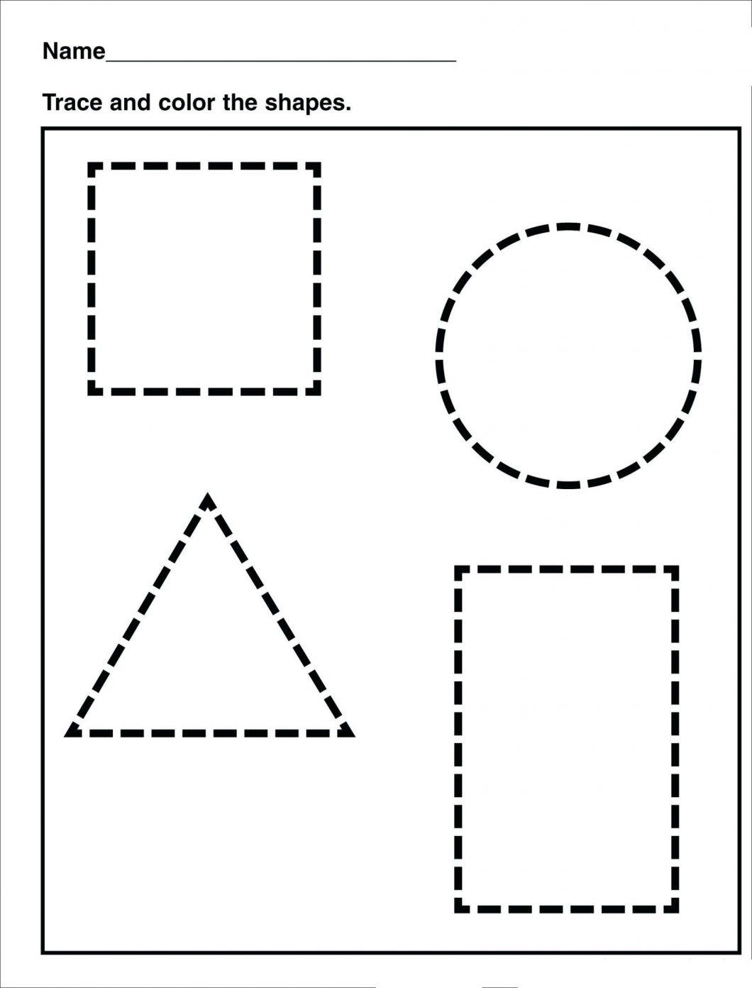 Free Printable Worksheets For Kindergarten – With Basic Math Also - Free Printable Shapes Worksheets For Kindergarten
