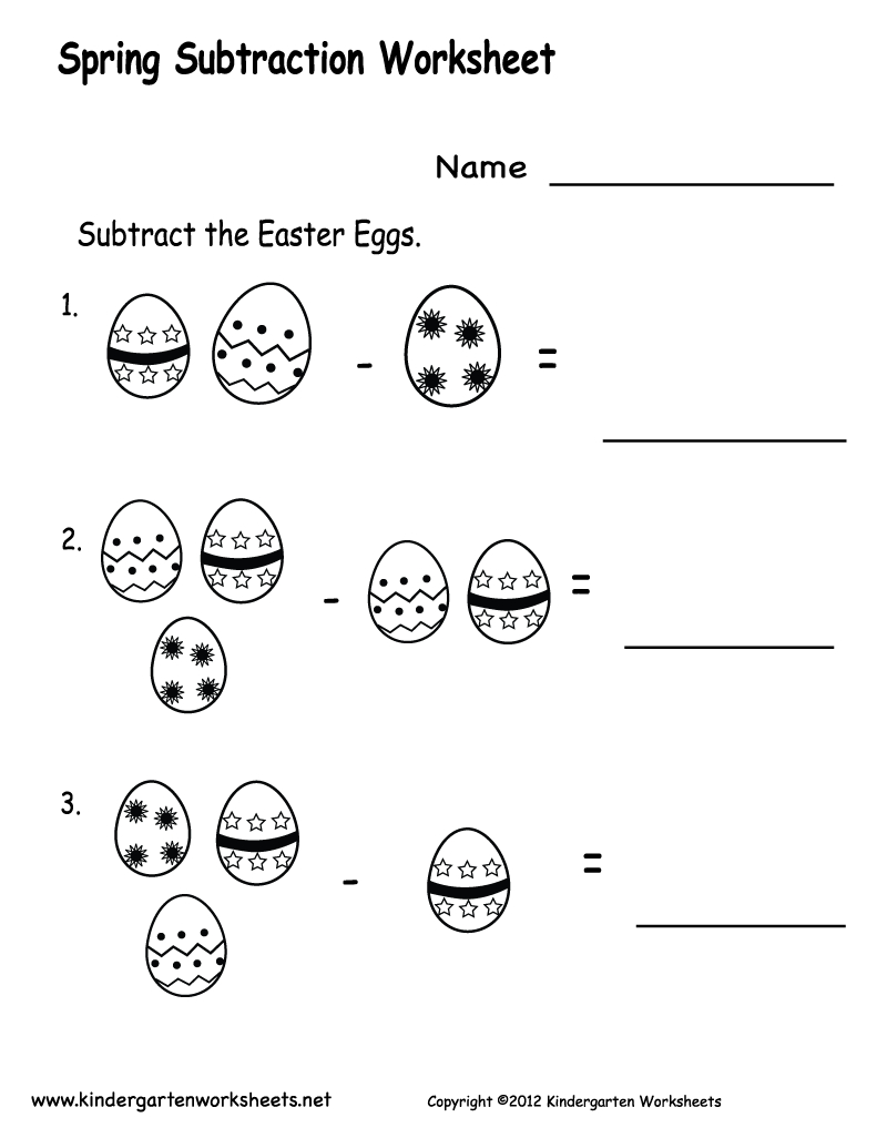 Free Printable Worksheets For Preschool | Free Printable Spring - Free Printable Spring Worksheets For Kindergarten