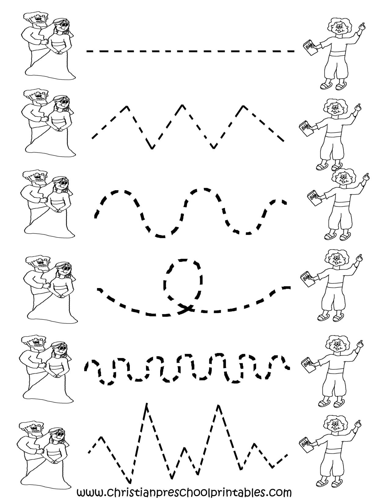 Free Printable Worksheets For Preschool | Preschool Tracing - Free Printable Preschool Worksheets