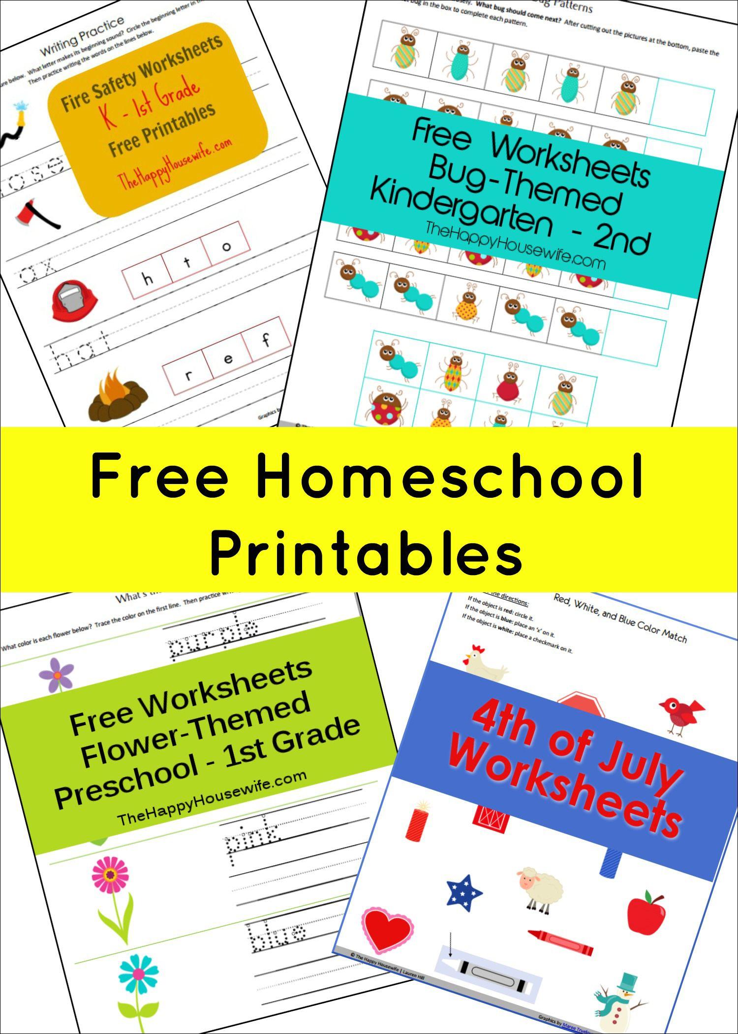 Free Printable Worksheets | Free Printables | Homeschool, Homeschool - Free Homeschool Printable Worksheets