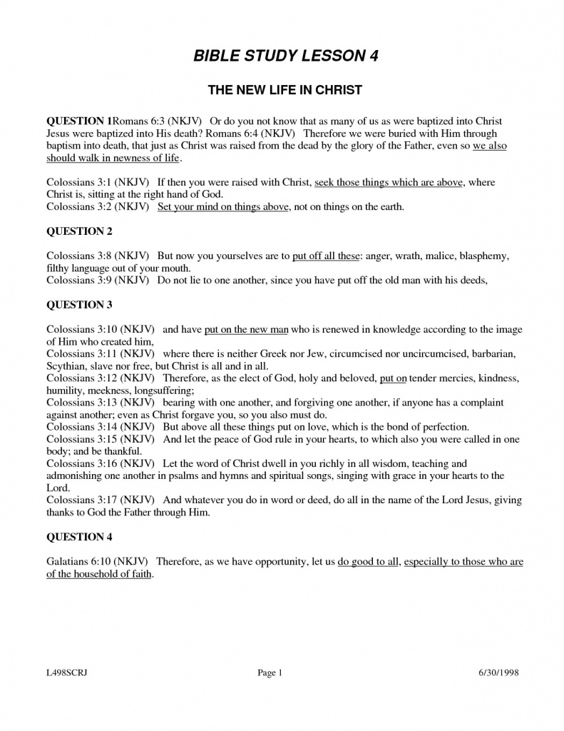 Free Printable Youth Bible Study Lessons | World Of Printable And - Free Printable Youth Bible Study Lessons