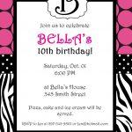 Free Printable Zebra Print Invitations Baby Shower | Emma   Free Printable Animal Print Birthday Invitations