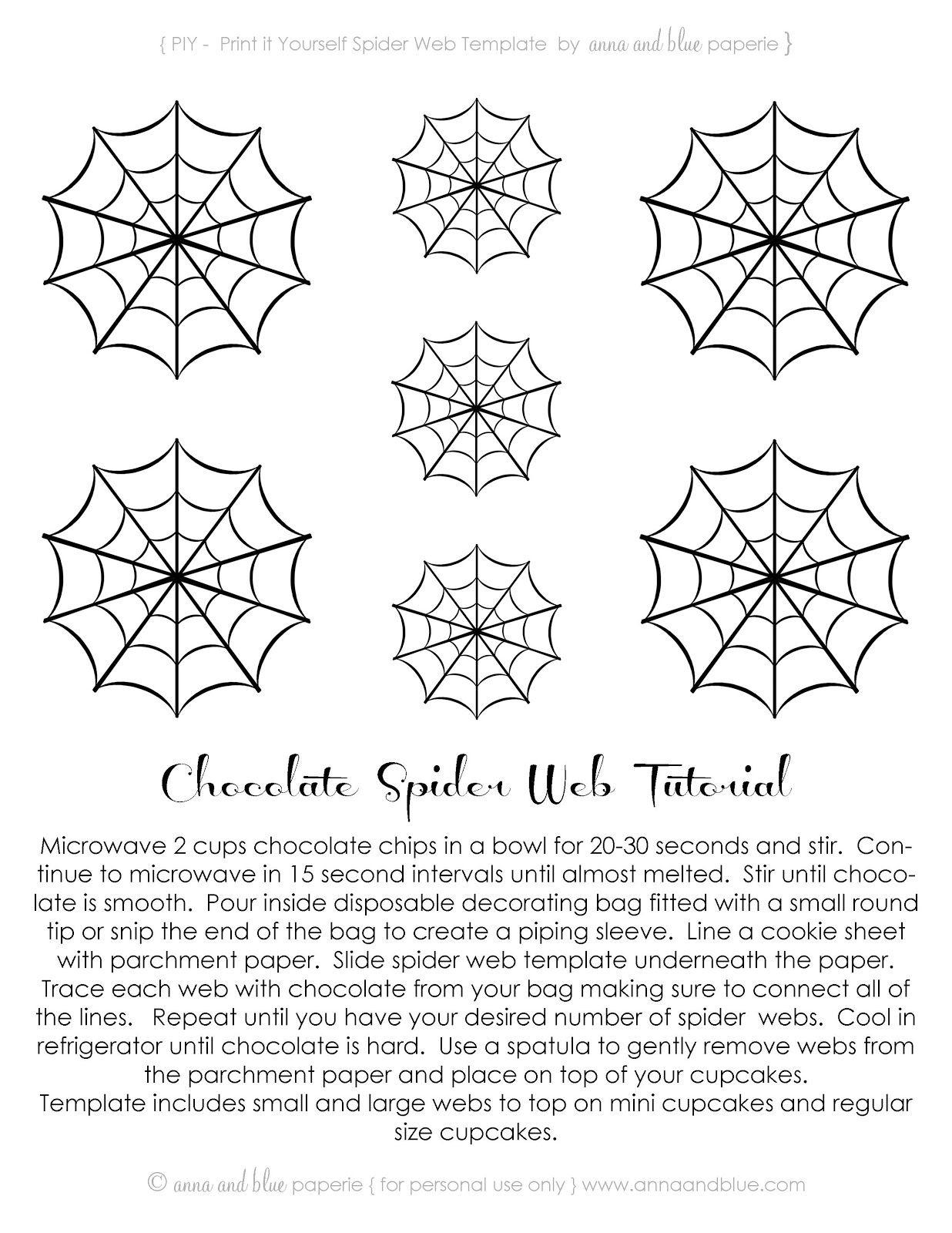Free Printable~Chocolate Spider Web-Tutorial .<3Anna And Blue - Spider Web Stencil Free Printable
