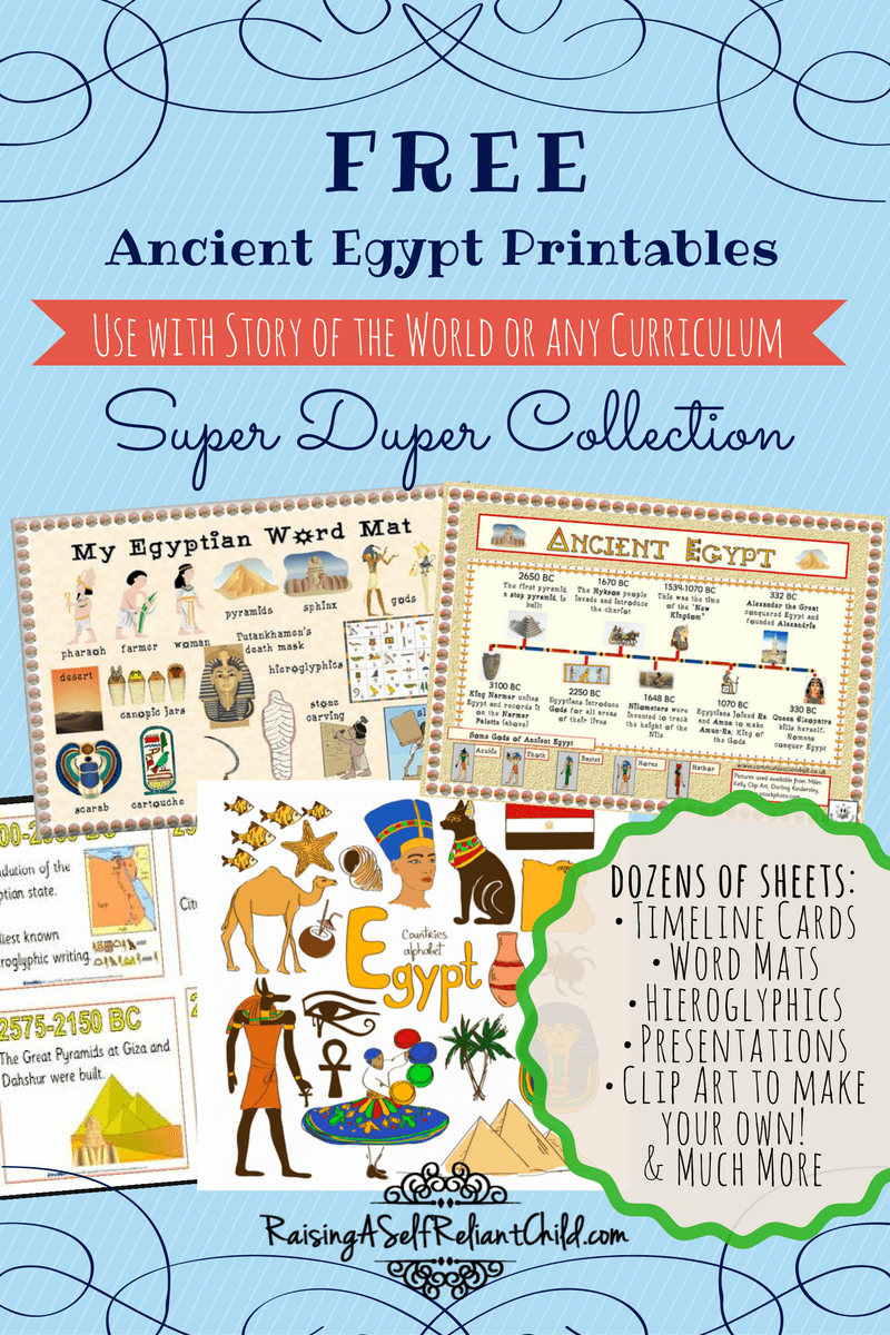 Free Printables Ancient Egypt Homeschool Resources | Ready To Learn - Free Printable Timeline Figures