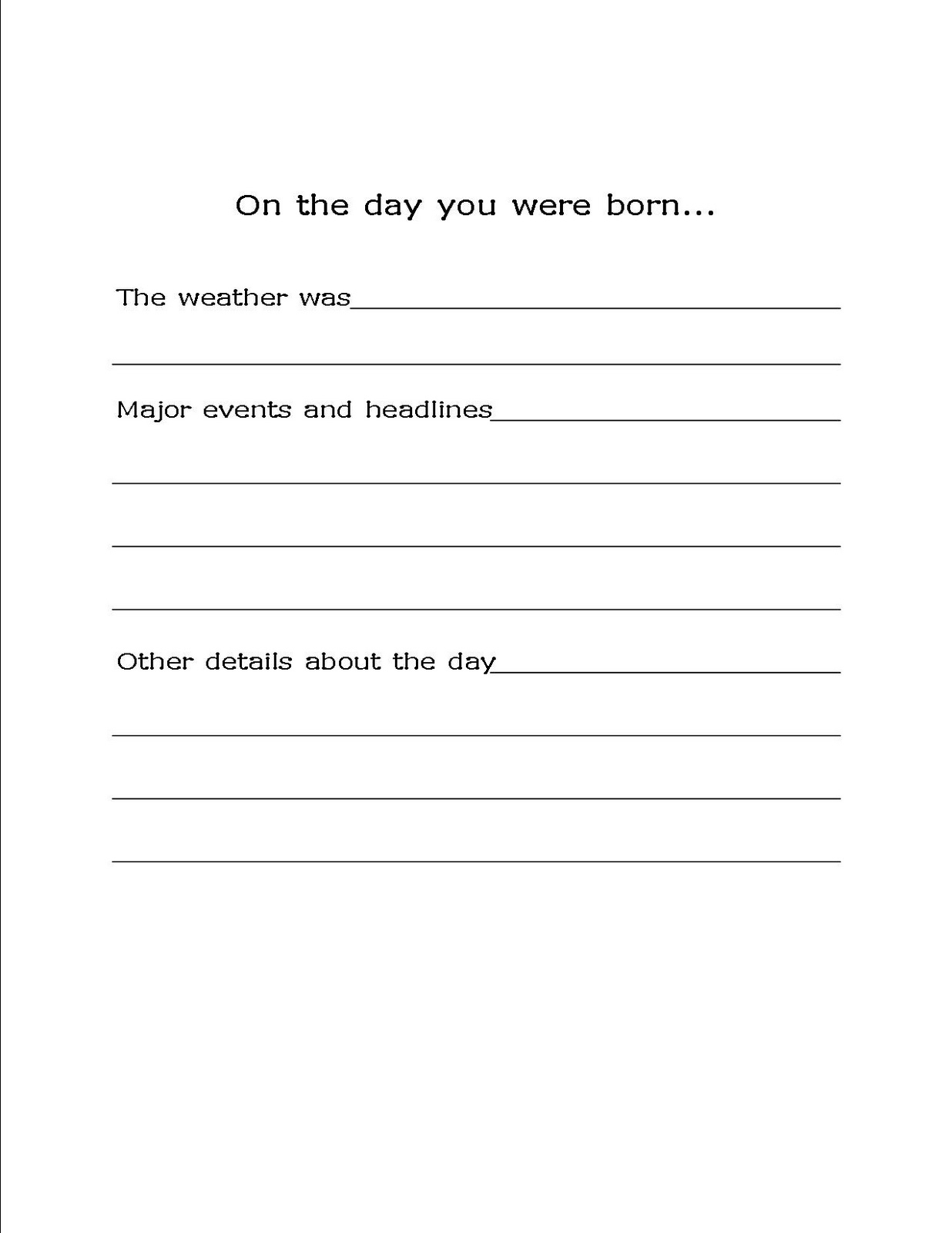 Free Printables Archives - Bare Feet On The Dashboard - The Year You Were Born Printable Free