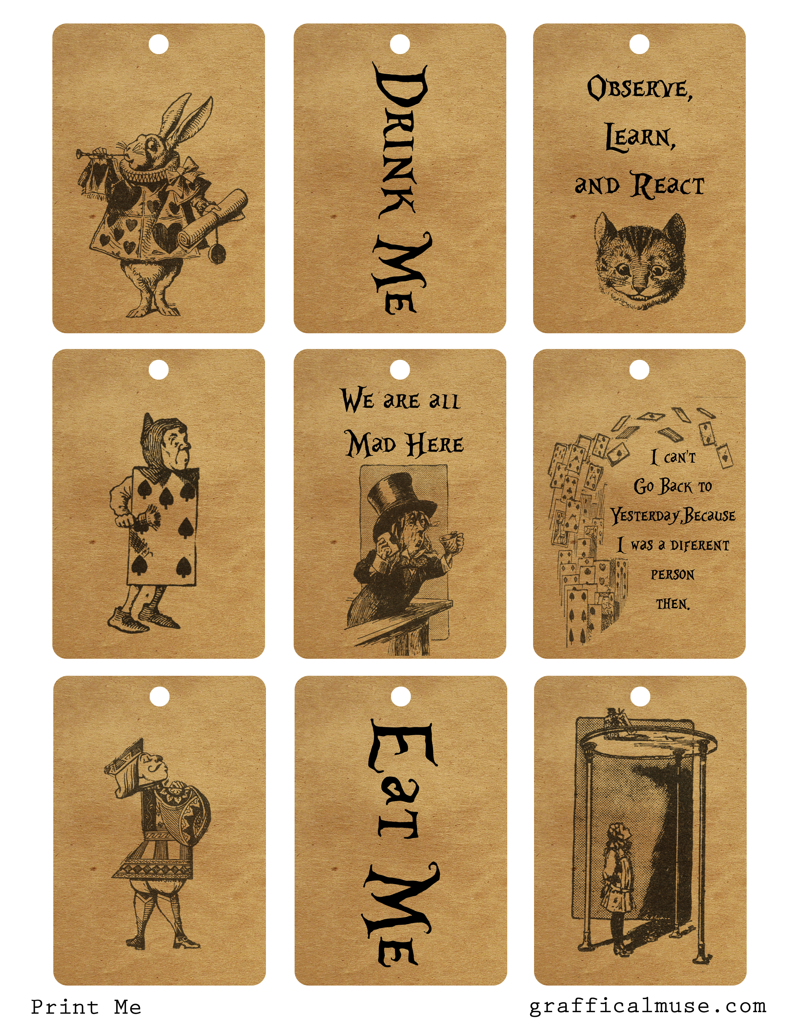 Free Printables Archives - Page 2 Of 5 - The Graffical Muse - Alice In Wonderland Signs Free Printable