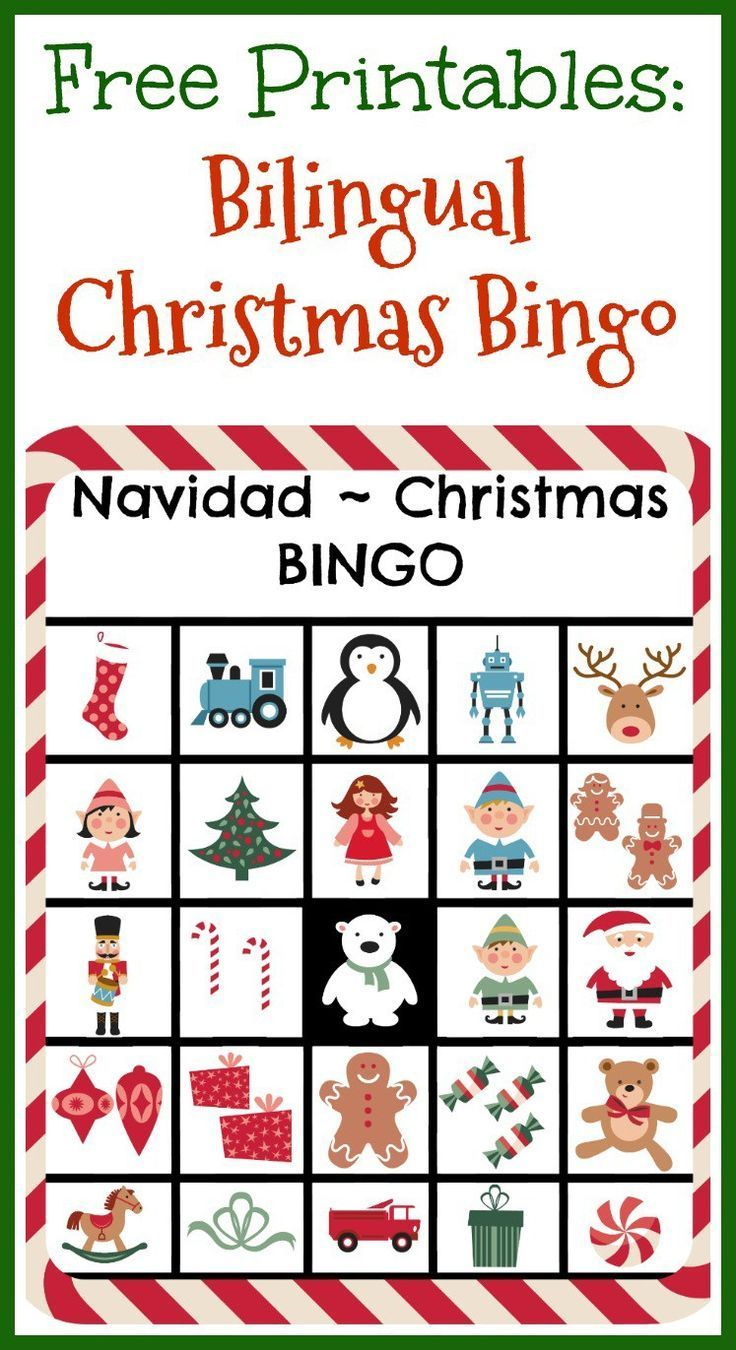 Free Printables: Bilingual Christmas Bingo | Room Mom | Learning - Free Printable Spanish Bingo Cards