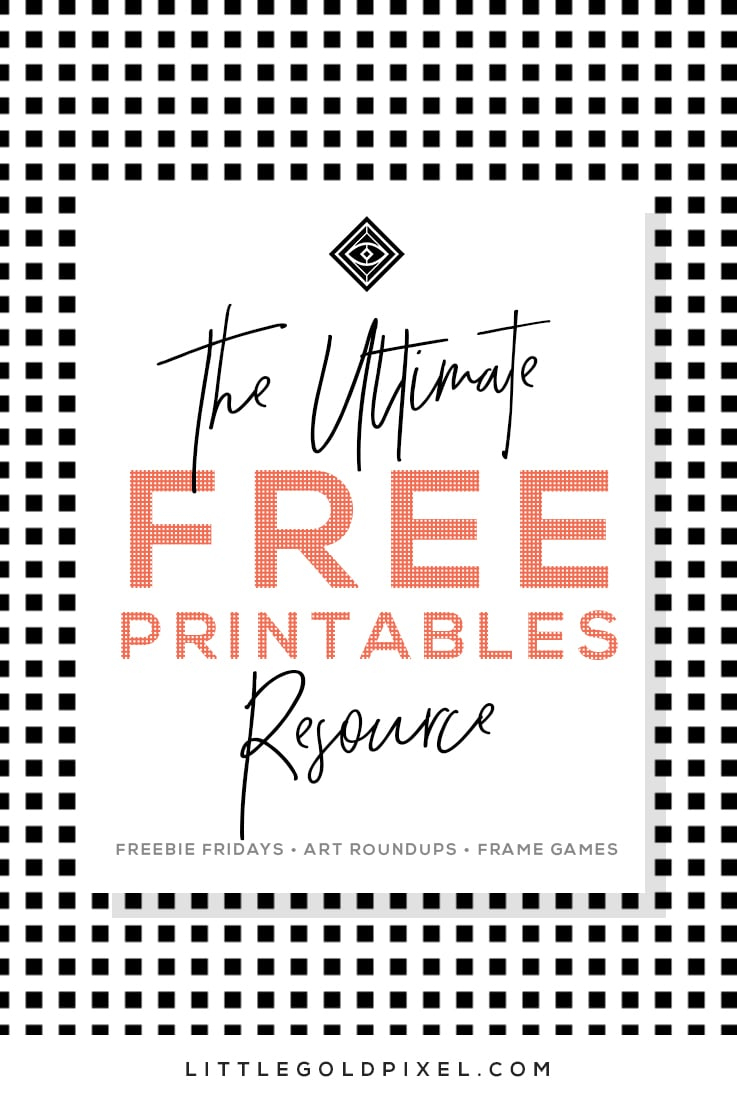 Free Printables • Design & Gallery Wall Resources • Little Gold Pixel - Free Printable Quotes For Office