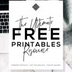 Free Printables • Design & Gallery Wall Resources • Little Gold Pixel   Free Printable Wall Art 8X10