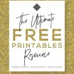 Free Printables • Design & Gallery Wall Resources • Little Gold Pixel   Free Printable Wall Posters