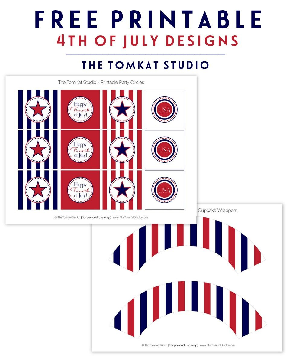 Free Printables For 4Th Of July   4Th Of July Ideas   4Th Of July - Free Printable Party Circles