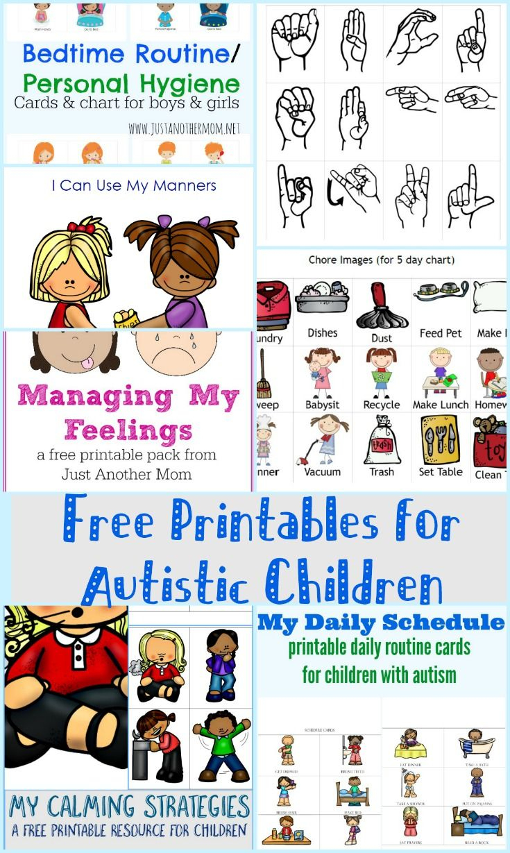 Free Printables For Autistic Children And Their Families Or - Free Printable Sensory Stories