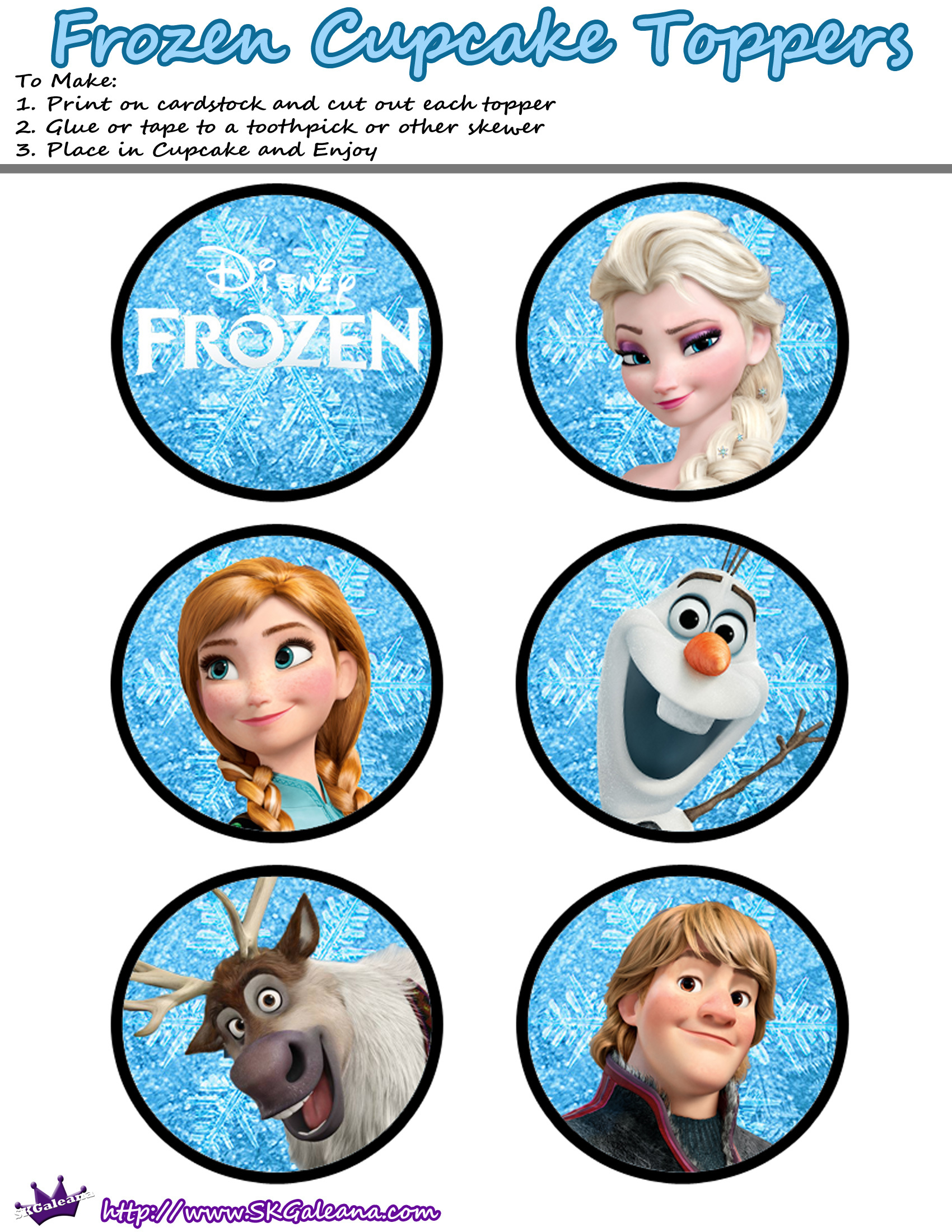 Free Printables For The Disney Movie Frozen | Cake Decorating - Frozen Cupcake Toppers Free Printable