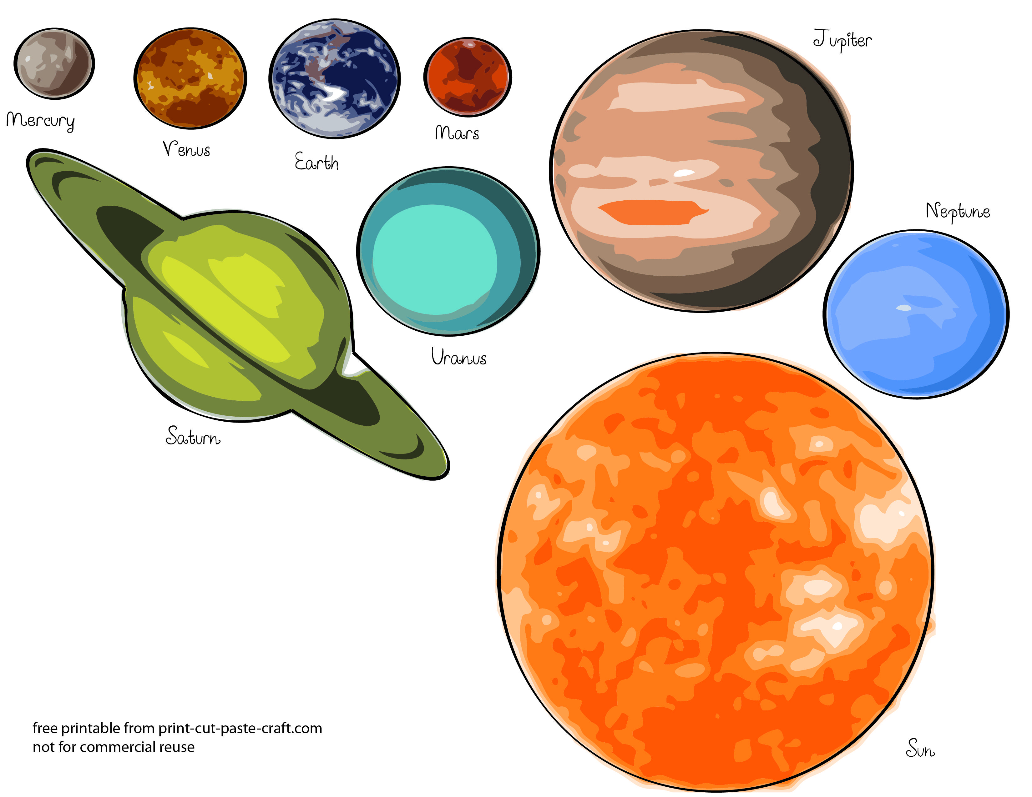 Free Printables Planets | Free Printable Solar System Model For Kids - Solar System Charts Free Printable