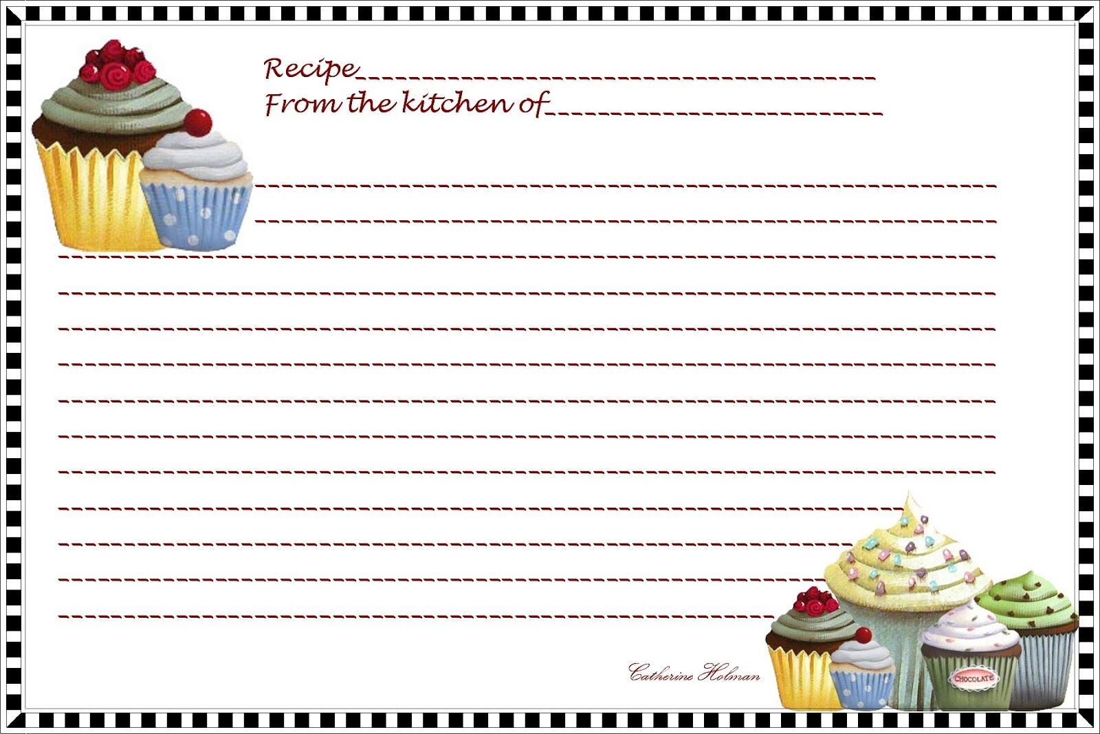 Free Printables Recipes Index Card    Reply You Can Print This - Free Printable Index Cards