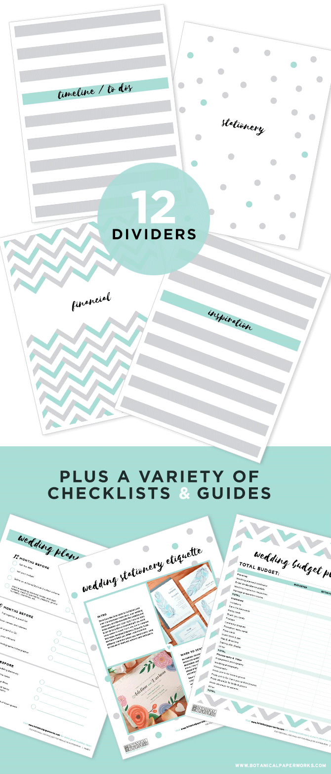 Free Printables} Wedding Planning Binder Download With New Bonus - Free Printable Wedding Binder Templates