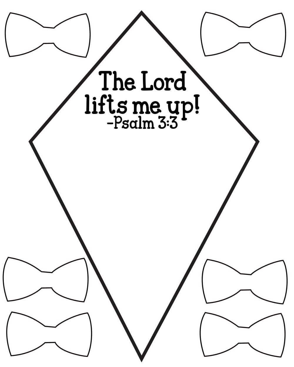 Free Psalm 3:3 Kids Bible Lesson Activity Printables - Free Printable Sunday School Crafts
