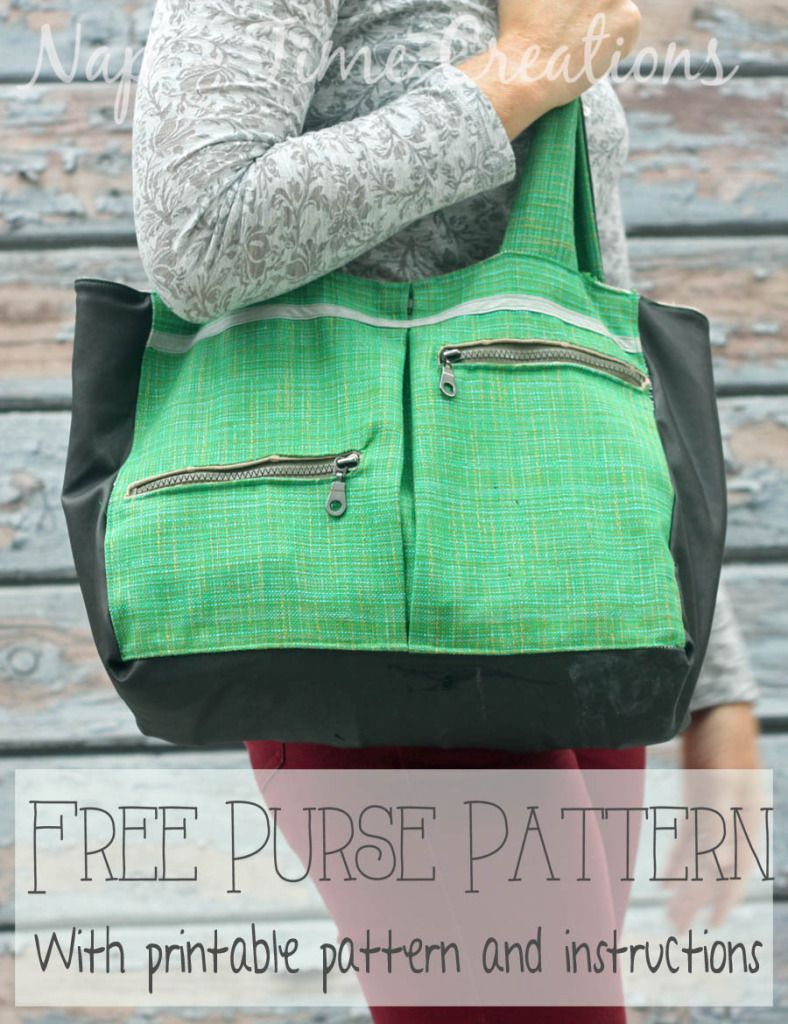 Free Purse Pattern With Pockets On Nap-Time Creations | Fashion - Free Printable Purse Patterns To Sew