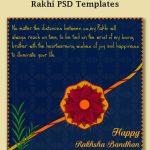 Free Rakhi Vector Templates | Social Post Design | Templates, Rakhi   Free Online Printable Rakhi Cards