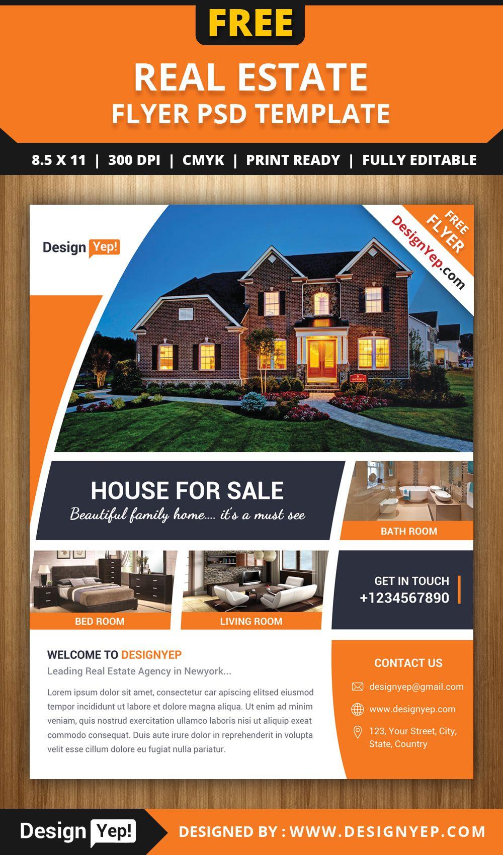 Free-Real-Estate-Flyer-Psd-Template-7861-Designyep | Free Flyers - Free Printable Real Estate Flyer Templates