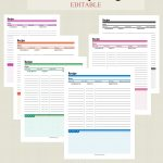 Free Recipe Pages In 6 Colors To Choose From. Editable. | Recipe   Free Printable Recipe Pages