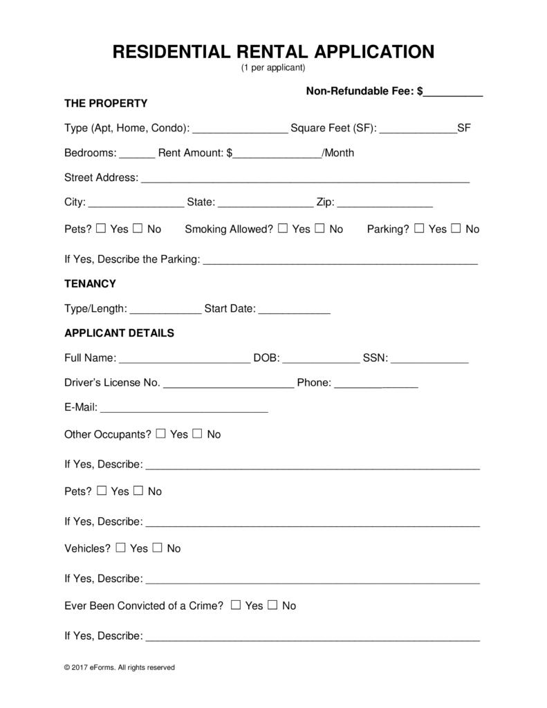 Free Rental Application Form | Bravebtr - Free Printable Rental Application Form