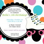 Free Roller Skating Party Invitation Template | Party Ideas | Skate   Free Printable Skateboard Birthday Party Invitations