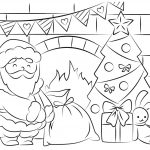 Free Santa Coloring Pages And Printables For Kids   Santa Coloring Pages Printable Free