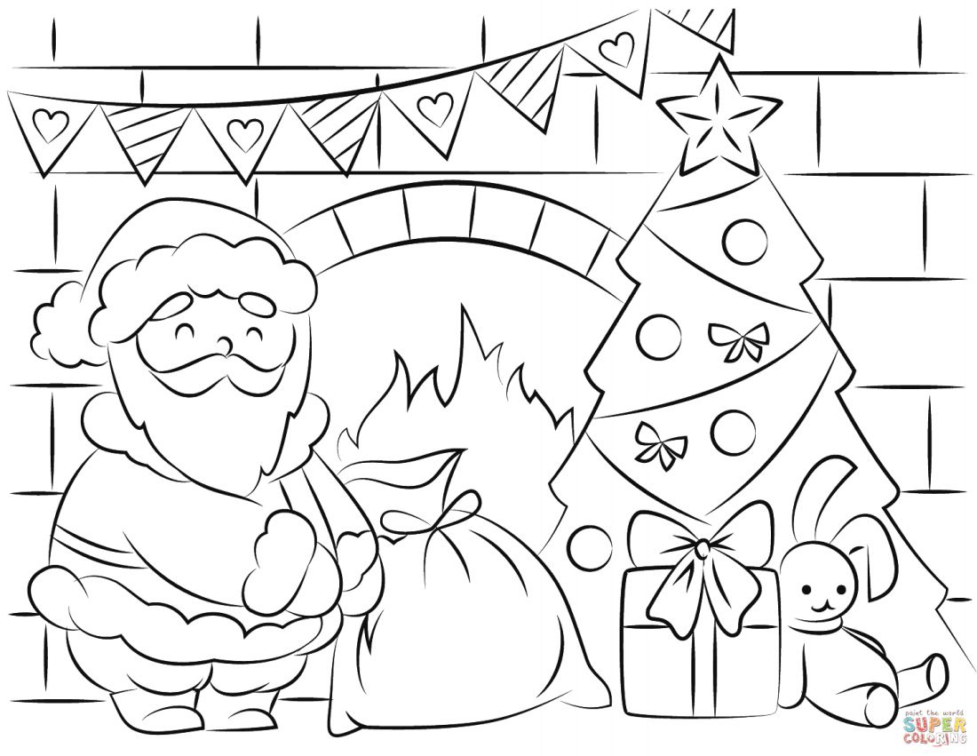 Free Santa Coloring Pages And Printables For Kids - Santa Coloring Pages Printable Free