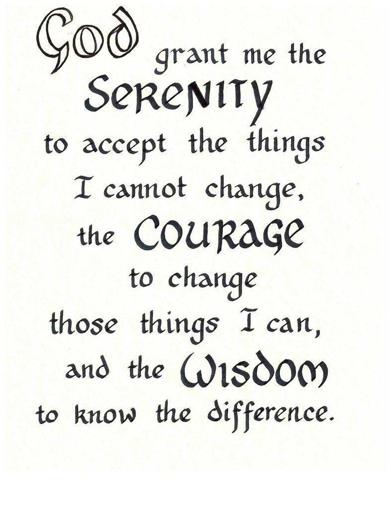 Free Serenity Prayer Printable Version   Serenity Prayer - Free Printable Serenity Prayer